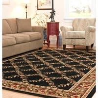 Safavieh Lyndhurst Traditional Floral Trellis Black/ Brown Rug - 8'9 x 12'