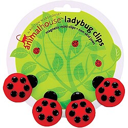 Animal House Ladybug Magnetic Mini Clips