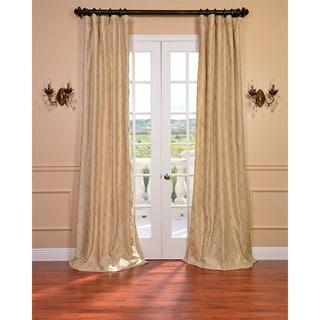 Exclusive Fabrics Carneros Brut Hand Sewn Faux Silk Pintuck 108-inch Curtain Panel