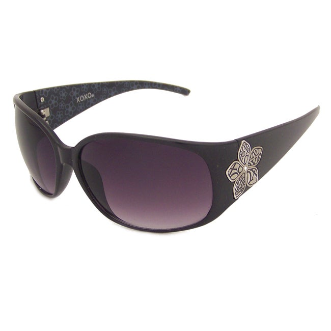 XOXO Women's Black Plastic Sunglasses
