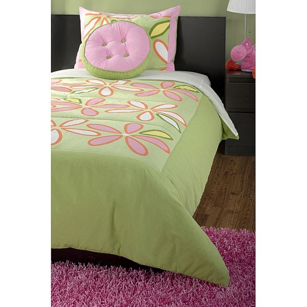 RizKidz 'Daisy Green' 3-piece Twin-size Quilt Set