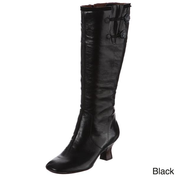 Naya Women's 'Dalia' Mid-heel Button Detail Boots