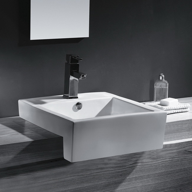 China Sink : Vitreous China 21-inch Bathroom Sink - Free Shipping Today - Overstock ...