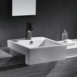 Vitreous China 21-inch Bathroom Sink