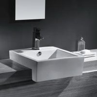 Vitreous China 21 Inch Bathroom Sink