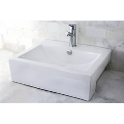 Vitreous China 21-inch Bathroom Sink - Thumbnail 2