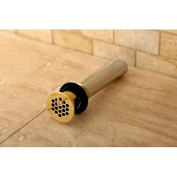 Polished Brass Vessel Sink Drain Permanent Grid Strainer with Overflow