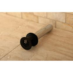 Oil Rubbed Bronze Vessel Sink Drain Permanent Grid Strainer with Overflow