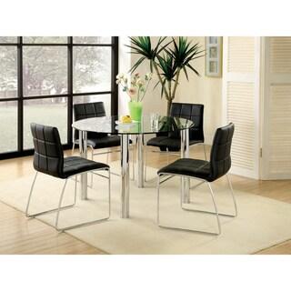 Porch & Den Hamilton 5-piece Chrome-plated Steel Dining Set