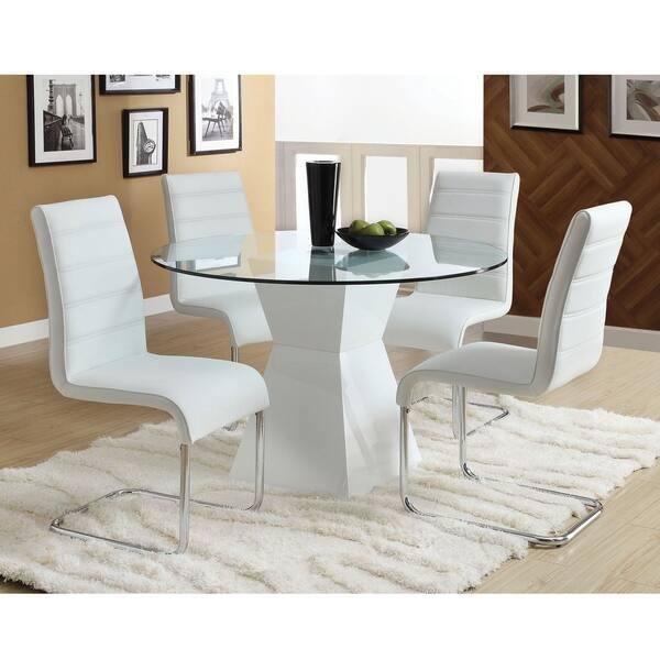 Shop Furniture of America Hann Modern Black 5-piece High ...