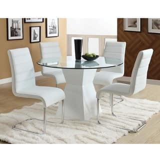 Furniture of America 'Athena' 5-piece High-Gloss Dining Set|https://ak1.ostkcdn.com/images/products/6521227/P14107081.jpg?impolicy=medium