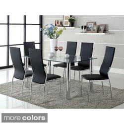 Furniture Of America Arden 7 Piece Contemporary Dining Set