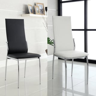 Furniture of America Duarte Modern Leatherette Dining Chairs (Set of 2)