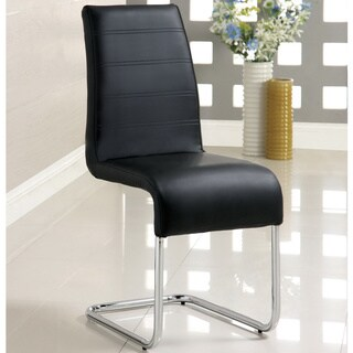 Furniture of America Alta Leatherette Dining Chairs (Set of 4) (Option: Black)