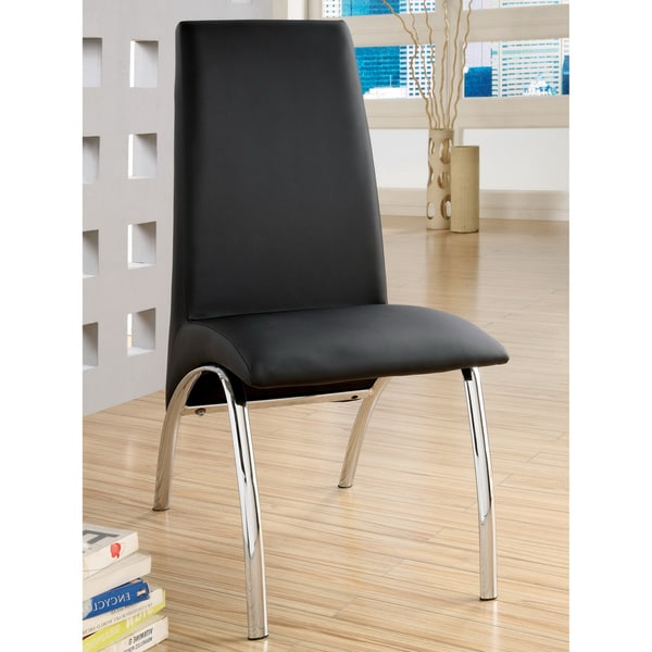 Furniture of America Alodie Leatherette Dining Chairs (Set of 2)