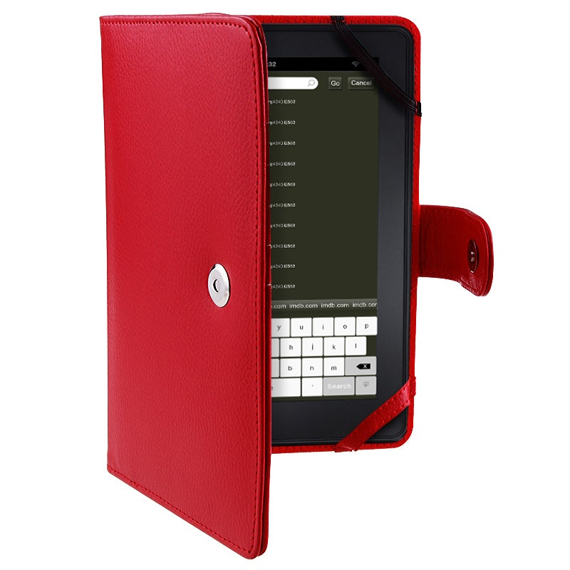 Red Leather Case for Amazon Kindle Fire