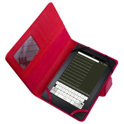 Red Leather Case for Amazon Kindle Fire - Thumbnail 1