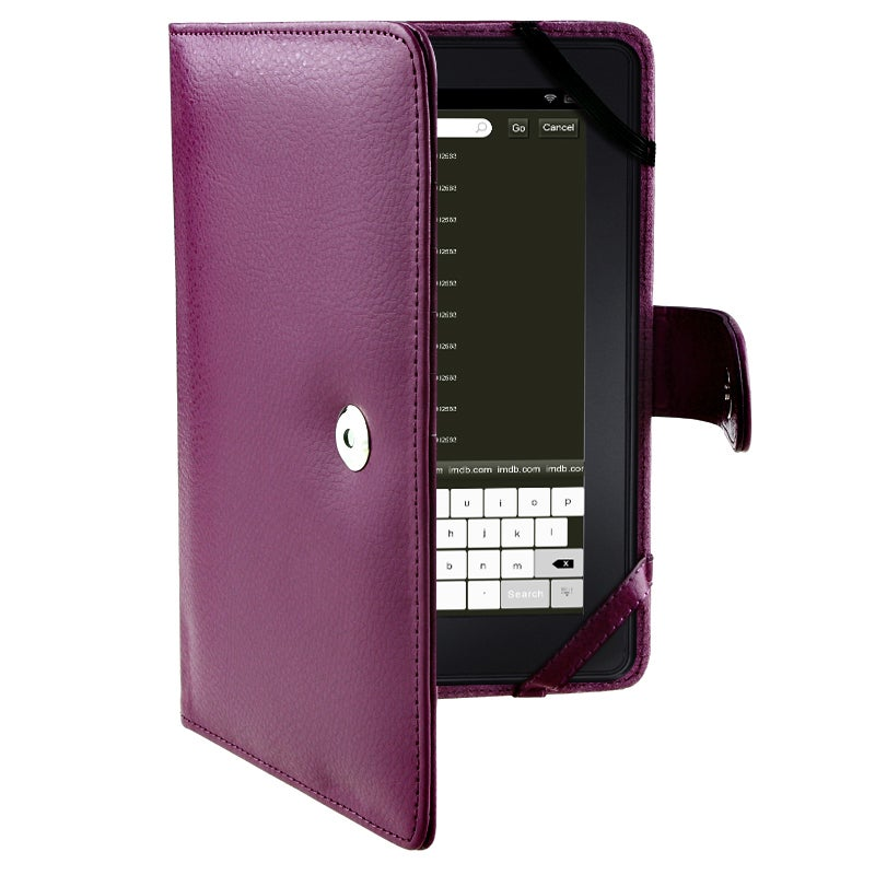 Purple Leather Case for Amazon Kindle Fire