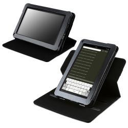 Black 360-degree Swivel Leather Case for Amazon Kindle Fire - Thumbnail 1