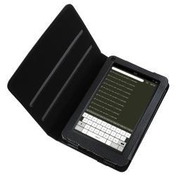 Black 360-degree Swivel Leather Case for Amazon Kindle Fire - Thumbnail 2