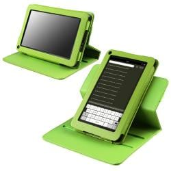 Green 360-degree Swivel Leather Case for Amazon Kindle Fire - Thumbnail 1