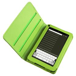 Green 360-degree Swivel Leather Case for Amazon Kindle Fire - Thumbnail 2