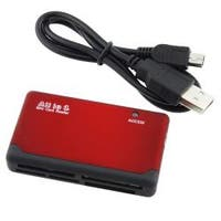 INSTEN Compact Plug and Play Red/ Black 26-in-1 USB 2.0 Memory Card Reader