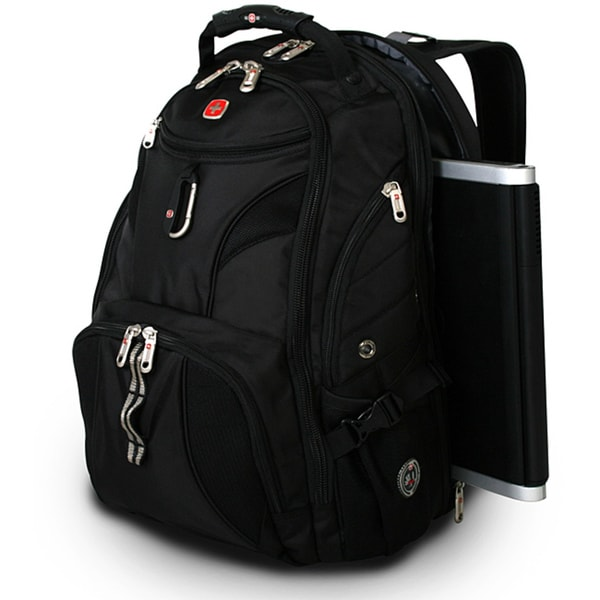 Wenger Swiss Gear Black ScanSmart 17-inch Laptop Backpack - Free ...