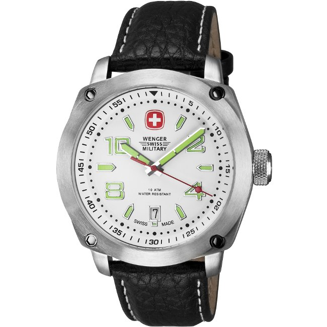 Wenger Men's Outback White Dial White Accents