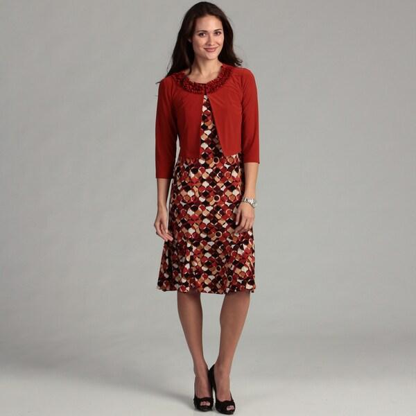Julian Taylor Women's Rust Jacket Dress