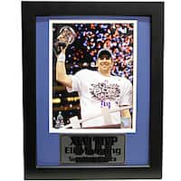 Super Bowl XLVI New York Giants Eli Manning Deluxe Framed Photo
