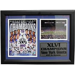 Super Bowl XLVI New York Giants Blue Framed Stat Photo - Thumbnail 0