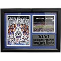 Super Bowl XLVI New York Giants Blue Framed Stat Photo