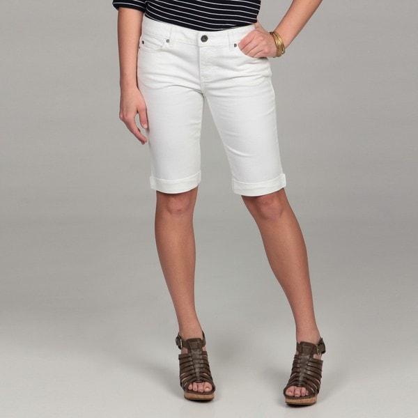 Calvin Klein Jeans Women's Rolled Cuff Bermuda Jeans Shorts