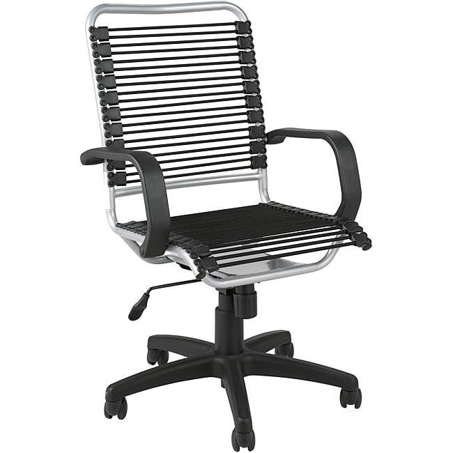 Black/ Aluminum Steel Office Chair