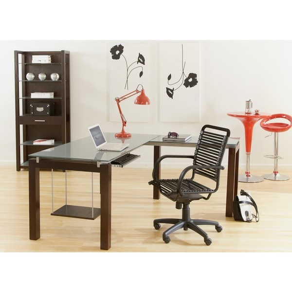 Graphite Black Bungie Cord/ Steel Office Chair