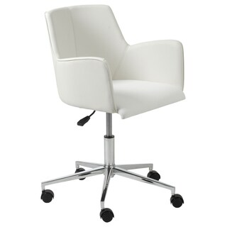 Sunny White/ Cream Steel Office Chair