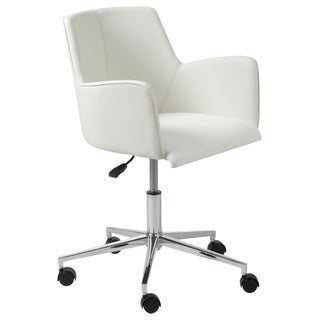 Sunny White/ Cream Steel Office Chair