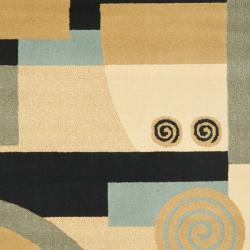 Safavieh Porcello Modern Abstract Blue/ Multi Rug (2'4 x 6'7)