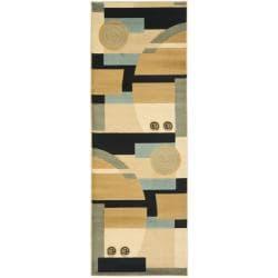 Safavieh Porcello Modern Abstract Blue/ Multi Rug (2'4 x 9')