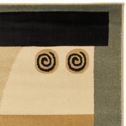 Safavieh Porcello Modern Deco Blue/ Multi Rug (2'7 x 5') - Thumbnail 1