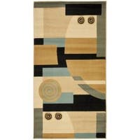 Safavieh Porcello Modern Deco Blue/ Multi Rug - 2'7 x 5'