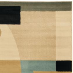 Safavieh Porcello Modern Deco Blue/ Multi Rug (4' x 5'7) - Thumbnail 1