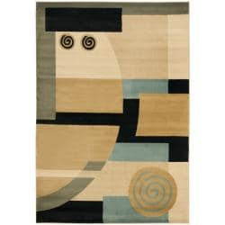 Safavieh Porcello Modern Deco Blue/ Multi Rug (4' x 5'7)