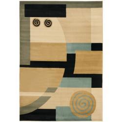 Safavieh Porcello Modern Deco Blue/ Multi Rug (5'3 x 7'7)