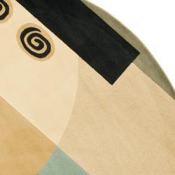Safavieh Porcello Modern Deco Blue/ Multi Rug (7' Round) - Thumbnail 1