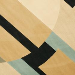 Safavieh Porcello Modern Deco Blue/ Multi Rug (7' Round) - Thumbnail 2