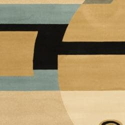 Safavieh Porcello Modern Abstract Blue/ Multi Rug (7' Square)
