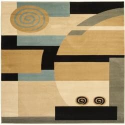 Safavieh Porcello Modern Abstract Blue/ Multi Rug (7' Square)
