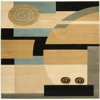 Safavieh Porcello Modern Deco Blue/ Multi Rug - 7' x 7' Square